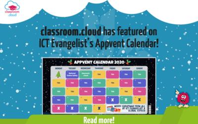 classroom.cloud has featured on ICT Evangelist's Appvent Calendar!